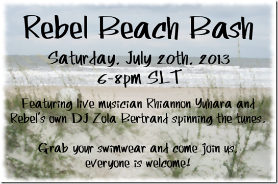Rebel Beach Bash Invite